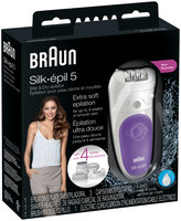 Silk-epil 5 W&D Braun Silk-epil 5 5-541 – Wet & Dry Cordless Epilator with 4 extras including a shaver head and a trimmer cap