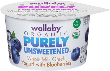 Wallaby® Organic Purely Unsweetened™ Whole Milk Greek Yogurt with Blueberries 5.3 oz. Cup