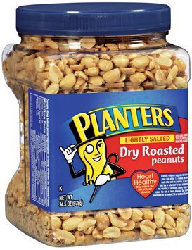 Planters® Lightly salted Dry roasted Peanuts 34.5 oz Canister