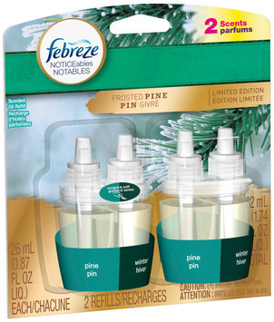 Febreze NOTICEables Glistening Pine Dual Scented Oil Refill Value Pack 2-0.87 fl. oz. Carded Pack