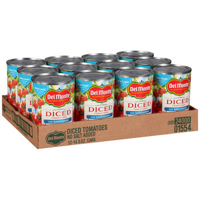 Del Monte™ California No Salt Added Diced Tomatoes 12-14.5 oz. Cans