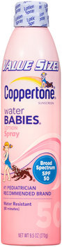 Coppertone® Water Babies® Broad Spectrum SPF 50 Lotion Spray Sunscreen 9.5 fl. oz. Aerosol Can