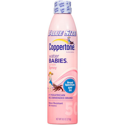 Coppertone® Water Babies® Broad Spectrum SPF 50 Lotion Spray Sunscreen 9.5 fl. oz. Aerosol Can