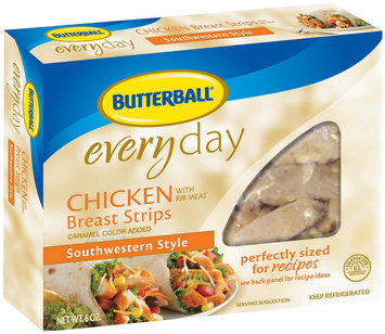 Butterball Southwestern Style Chicken Breast Strips 6 Oz Box