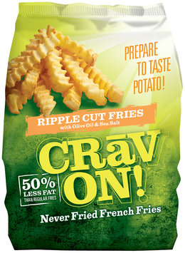CRAV ON! Ripple Cut Never Fried French Fries 32 Oz Bag