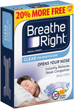 Breathe Right® Small/Medium Clear Nasal Strips 36 ct Box