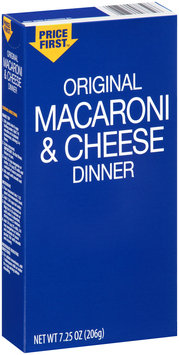 Price First™ Original Macaroni & Cheese Dinner 7.25 oz. Box