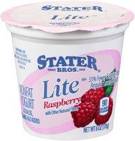 Stater® Bros. Lite Raspberry Nonfat Yogurt 6 oz. Cup