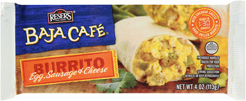 Baja Cafe® Egg, Sausage & Cheese Burrito 4 oz.