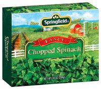 Springfield Chopped Fancy Spinach 10 Oz Box