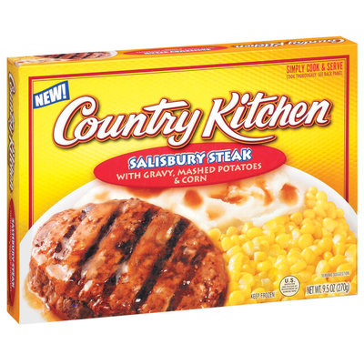 Country Kitchen W/Gravy Mashed Potatoes & Corn Salisbury Steak 9.5 Oz Box