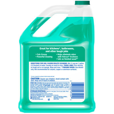 Mr Clean Liquid All Purpose Cleaner Home Pro with Febreze Meadows and Rain 128 Oz