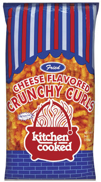 Kitchen Cooked Fried Cheese Flavored Crunchy Curls 9 Oz Bag