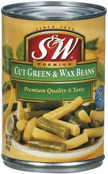 S&W® Cut Green & Wax Beans 14.5 oz. Can