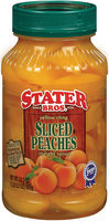 Stater Bros. Sliced Peaches 24.5 Oz Plastic Jar