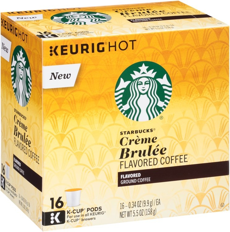 Starbucks® Creme Brulee Flavored Coffee K-Cup Pods 16 ct ...