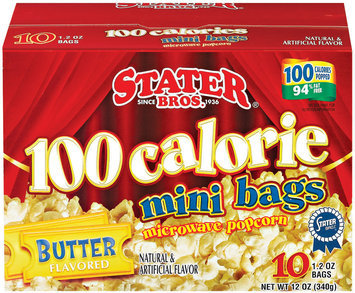 Stater Bros. 100 Calorie Mini Bags Butter Flavored 10 Ct Microwave Popcorn 12 Oz Box