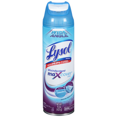 Lysol® Lavender Field Scent MaXcover™ Mist Disinfectant 15 oz. Aerosol Can