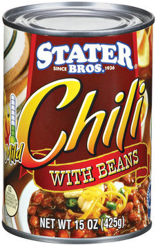 Stater Bros. Mild W/Beans Chili 15 Oz Can