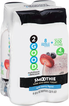2Good(TH) Wild Berry Flavor Smoothie 4-8 fl. oz. Pack