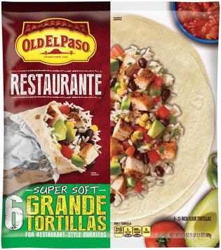 Old El Paso® Restaurante Grande Flour Tortillas 6 ct Bag