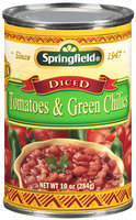 Springfield® Mild Diced Tomatoes & Green Chilies 10 oz.