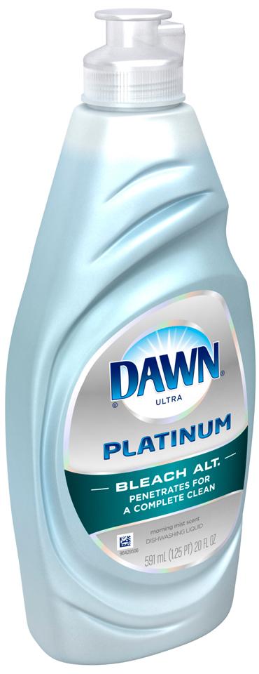 Dawn Platinum Bleach Alternative Dishwashing Liquid Morning Mist