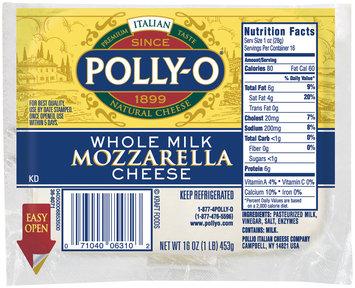 Polly-O Mozzarella Whole Milk  Cheese 16 Oz Bag