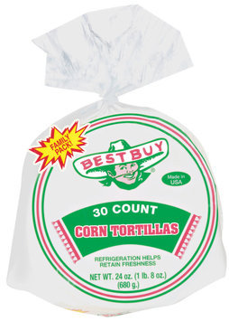 Best Buy 30 Ct Tortillas Corn 24 Oz Poly Bag