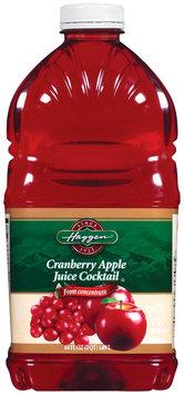Haggen Cranberry Apple Juice Cocktail 64 Oz Plastic Bottle