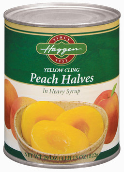 Haggen Yellow Cling Halves In Heavy Syrup Peaches 29 Oz Can