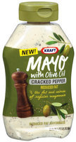 Kraft Mayo W/Olive Oil & Cracked Pepper Mayonnaise 22 Oz Squeeze Bottle