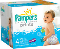 Pampers® Limited Edition Prints Boys Size 4 Diapers 56 ct Box