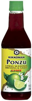 Kikkoman Lime Citrus Seasoned Dressing & Sauce Ponzu 15 Oz Bottle