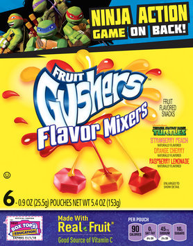 Betty Crocker® Fruit Gushers™ Flavor Mixers Fruit Flavored Snacks 6-0.9 oz. Pouches