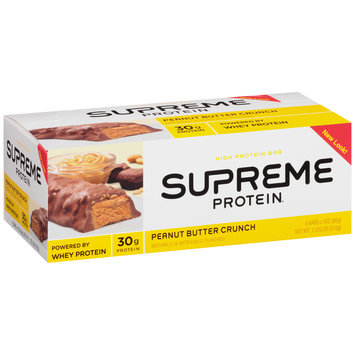 Supreme Protein® Peanut Butter Crunch High Protein Bars 6 ct