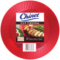 Chinet® Cut Crystal® 7 Inch Plastic Plates 32 ct. Package