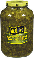 Mt. Olive Sweet Green Salad Cubes Pickles 1 Gal Jar
