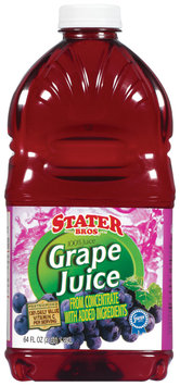 Stater Bros. Grape Juice 64 Oz Plastic Bottle