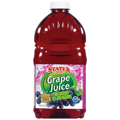 Stater Bros. Grape Juice 64 Oz Plastic Bottle