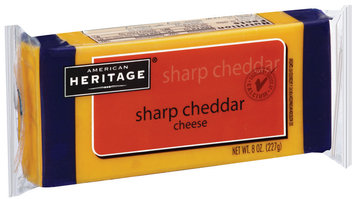 American Heritage Sharp Cheddar Cheese 8 oz Brick
