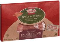 HORMEL NATURAL CHOICE Original Uncured Bacon 12 OZ PACKAGE