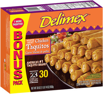 Delimex® White Meat Taquitos 30 ct Box