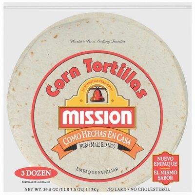Mission Corn Como Hechas EN Casa 36 Ct Tortillas 39.5 Oz Bag