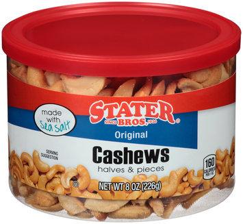 Stater Bros.® Halves & Pieces Original Cashews 8 oz. Canister