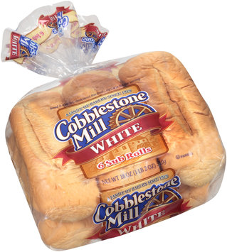 Cobblestone Mill® White Sub Rolls 6 ct Bag