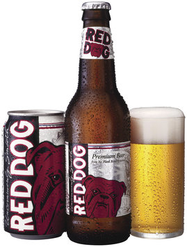 Red Dog Can Bottle W/Pour Beer 12 Oz