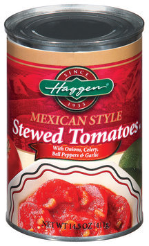 Haggen Stewed Mexican Style W/Onions Celery Bell Peppers & Garlic Tomatoes 14.5 Oz Can