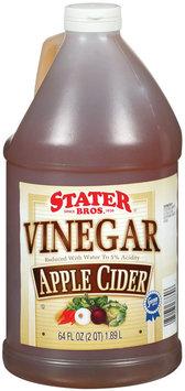 Stater Bros. Apple Cider Vinegar 64 Fl Oz Plastic Jug