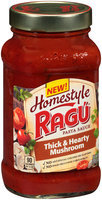 Ragu® Homestyle Thick & Hearty Mushroom Pasta Sauce 23 oz. Jar